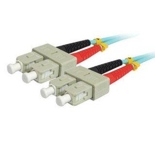 Comprehensive 6.56 10gb SC/SC Duplex 50/125 Multimode Fiber Patch Cable, Aqua SC SC OM3 2M