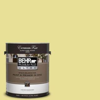 BEHR Premium Plus Ultra 1 gal. #P340 3 Reviving Green Flat Exterior Paint 485401