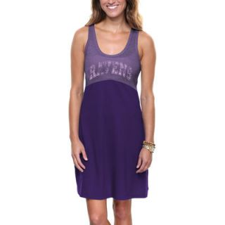 Baltimore Ravens Womens Baby Jersey Dress   Purple