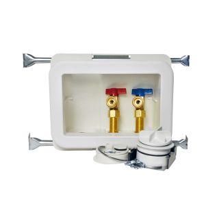 Oatey Quarter Turn Ball Valve PEX Washing Machine Outlet Box