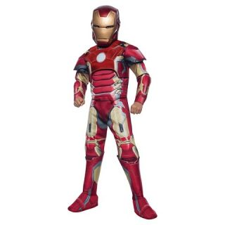 Boys Avengers Iron Man Muscle Costume
