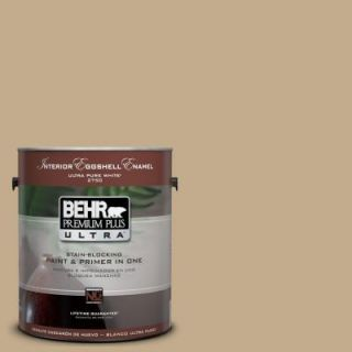 BEHR Premium Plus Ultra 1 Gal. #UL170 5 Woven Straw Interior Eggshell Enamel Paint 275401