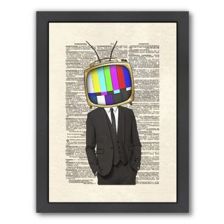 Televisionhead by Matt Dinniman Framed Graphic Art by Americanflat