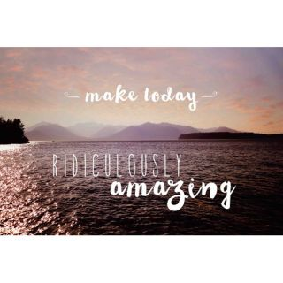 Make Today Amazing by Sylvia Cook Painting Print on Wrapped Canvas by
