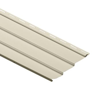 Durabuilt 10.28 in x 145 in Cream Traditional Vinyl Siding Panel