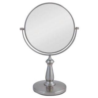 Zadro 13.5 in. L x 9 in. W Dual Sided Swivel Vanity Mirror in Satin Nickel VAN48