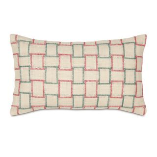 Joyeaux Noel Holiday Woven Lumbar Pillow by Eastern Accents
