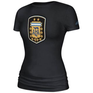 Argentina adidas Womens Futbol Crest T Shirt   Black