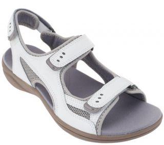 Clarks Leather Adj. Sport Sandals   InMotion Thorn —