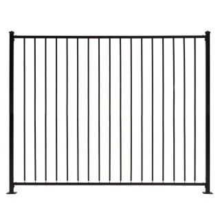 decorative metal fence panels iron fence gilpin embassy black steel decorative metal fence panel common ft ft