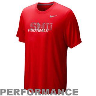 Nike SMU Mustangs Legend Conference Performance T Shirt   Crimson