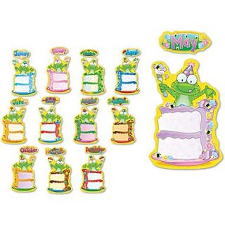 Carson Dellosa Frog Birthday Bulletin Board Set