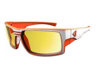 Ryders Eyewear Thorn Matte White Frame Anti Fog Traction Polarized Yellow Lens