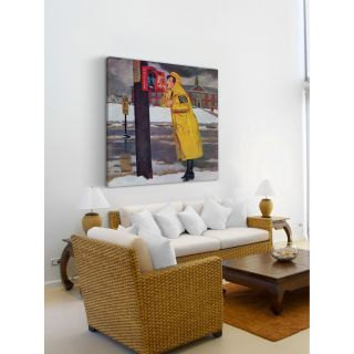 Crossing Guard Fixing Her Makeup by Richard Sargent Painting Print on
