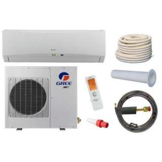 GREE Terra 9,000 BTU 3/4 Ton Ductless Mini Split Air Conditioner and Heat Pump Kit   208 230V/60Hz TERRA09HP2301AKIT