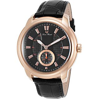 Lucien Piccard Watches Duval Leather Band Watch