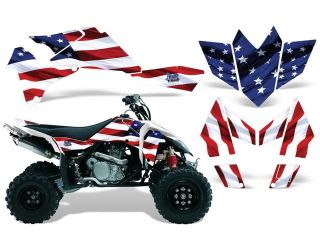 2006 2009|Suzuki|LTR|450::AMRRACING ATV Graphics Decal Kit:Stars and Stripes
