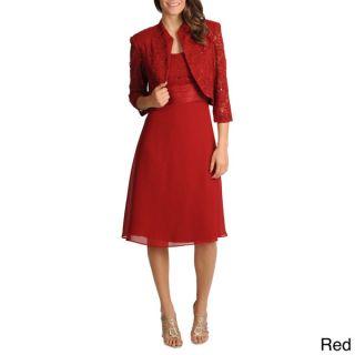 Richards Womens 2 piece Mandarin Jacket Dress   15447084