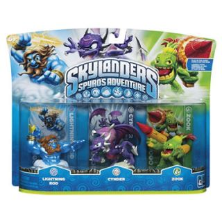 Skylanders 3 Character Pack: Lightning Rod, Cynder and Zook