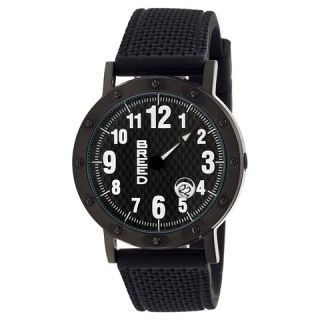 Mens Breed Richard Watch with Patterned Silicone Strap