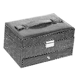 Richards Homewares Lux Bling Slim Faux Leather Jewelry Box Organizer