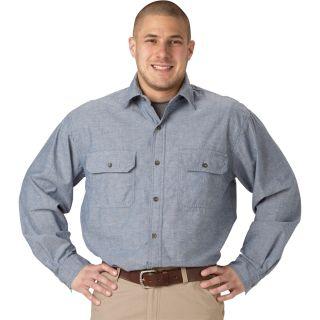 Key Long Sleeve Blue Chambray Shirt