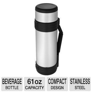 Thermos Nissan NCD1800P Beverage Bottle   61 oz, Stainless Steel, Vacuum Insulated