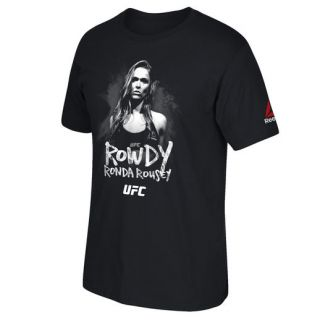 Reebok Ronda Rousey UFC 193 Black Weigh In Rowdy T Shirt