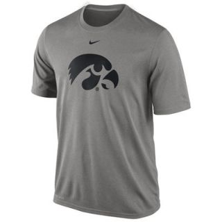 Nike Iowa Hawkeyes Logo Legend Dri FIT Performance T Shirt   Gray