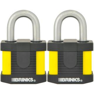 Brinks 2 pk 50MM Lam Steel Weatherproof Lock