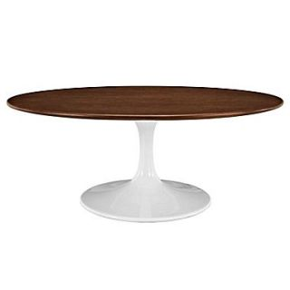Modway Lippa EEI 1141 WAL 15.5 Oval Coffee Table, Scratch and Chip Resistant