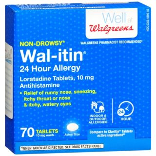 Wal itin Non Drowsy 24 Hour Allergy Relief Tablets