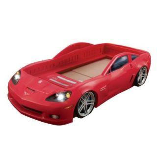 Step2 Corvette Toddler to Twin Size Red Plastic Bed Frame 8215KR