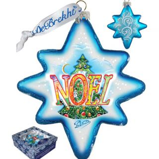 Holiday LED Noel 2014 Glass Ornament by G Debrekht
