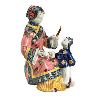 Design Toscano Hand Painted Porcelain Sculpture
