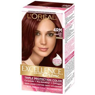 Oreal 4RM Red Richesse Warmer Dark Mahogany Red Hair Color   Beauty