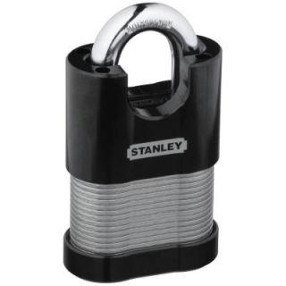 Stanley National Hardware 1.969 in. Silver Laminated Padlock CD8823 LAM SHRDED PLK 50