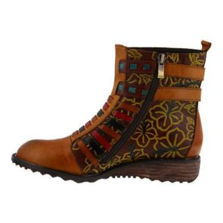 Womens LArtiste by Spring Step Dasha Bootie Camel Multi Leather