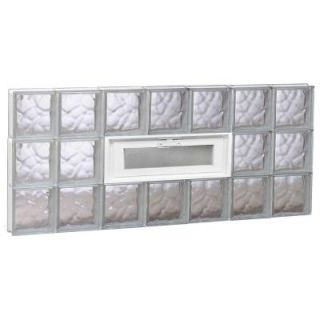 Clearly Secure 31 in. x 11.5 in. x 3.125 in. Wave Pattern Solid Glass Block Window 3212SDC