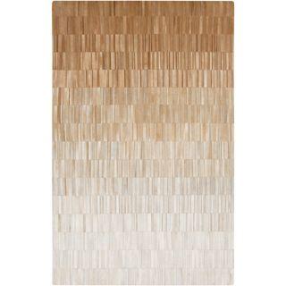 Handmade Ricardo Stripe Pattern Leather Rug (2 x 3)   17070656