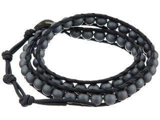 Chan Luu 13 1 2 Matte Hematine Natural Black Double Wrap Bracelet Matte Hematine Natural Black,