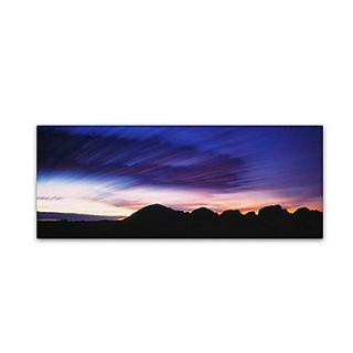 Trademark David Evans Kata Tjuta Dusk Gallery Wrapped Canvas Art, 16 x 47