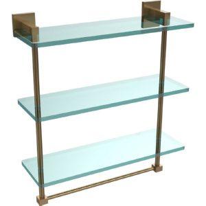 Allied Brass MT 5 16TB BBR Montero Brushed Bronze  Vanity & Glass Shelving Bathroom Accessories