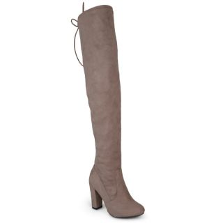 Journee Collection Womens Maya Faux Suede Regular and Wide Calf