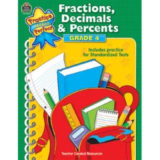 Teacher Created Resources Pmp Fractions Decimals & Percents G