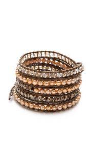 Chan Luu Imitation Pearl Beaded Wrap Bracelet SAVE UP TO 30% Use Code: MAINEVENT16