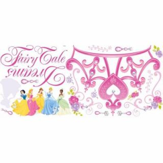 RoomMates 5 in. x 19 in. Disney Princess Crown Peel and Stick Giant Wall Decal (18 Piece) RMK1580GM