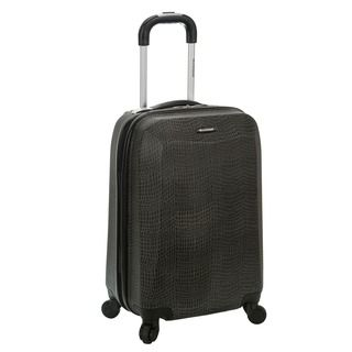 Rockland Vision Crocodile Print 20 inch Hardside Spinner Carry on