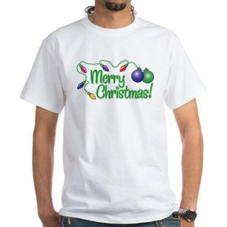 CafePress Big Men's MERRY CHRISTMAS! White T Shirt