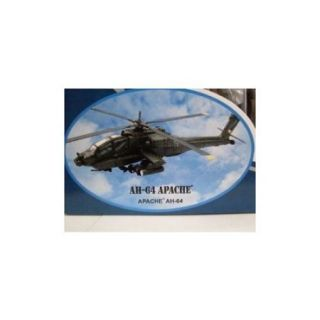 Boeing AH 64 Apache Diecast Military Helicopter 1:55 Scale   Model Kit Multi Colored
